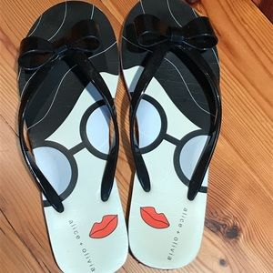 Alice + Olivia Shoes - Alice and Olivia Stacey Face Flip Flop